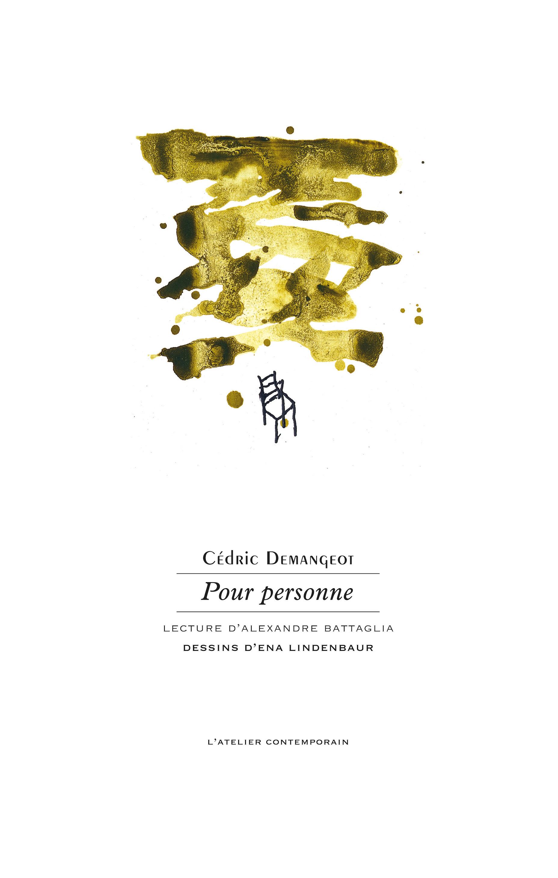 Contemporain Pour L'atelier PersonneCédric Éditions Demangeot UjLzMpGSqV